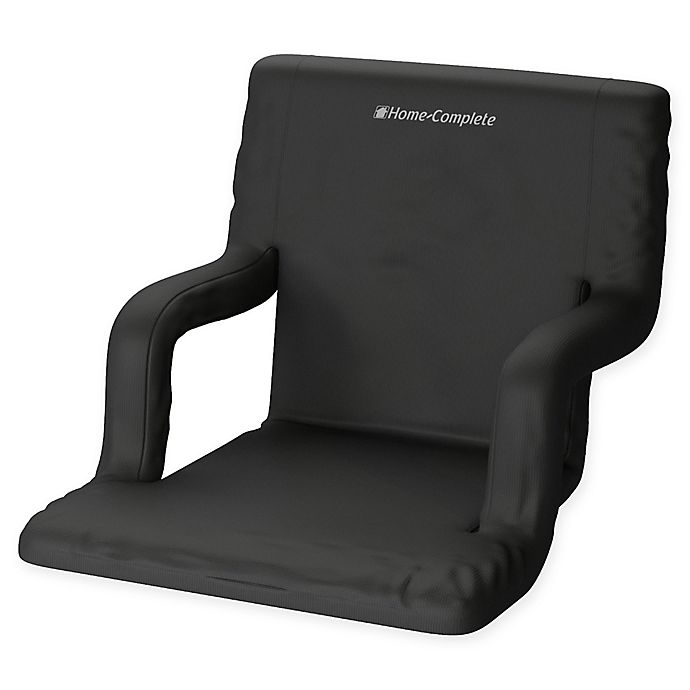 Alternate image 1 for Home-Complete Stadium Chair with Wide Bleacher Cushion in Black