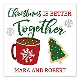 """Designs Direct """"Christmas is Better Together"""" 16-Inch Square Canvas Wall Art"""