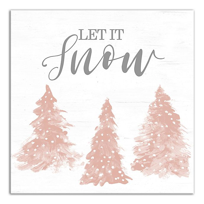 Alternate image 1 for Designs Direct Let It Snow Canvas Wall Art in White