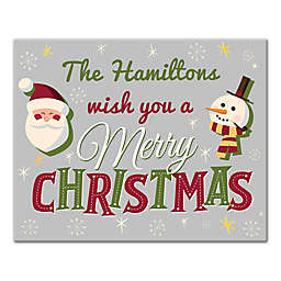 """Designs Direct """"We Wish You a Merry Christmas"""" 16-Inch x 20-Inch Canvas Wall Art"""