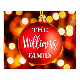 Designs Direct Family Ornament 20-Inch x 16-Inch Canvas Wall Art in Red