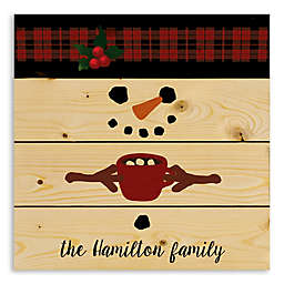 Designs Direct Snowman 14.25-Inch Square Wall Art in Red