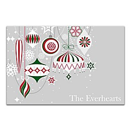 Designs Direct Christmas Ornament Collection 18-Inch x 12-Inch Canvas Wall Art in Gray