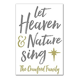 Designs Direct Let Heaven and Nature 12-Inch x 18-Inch Canvas Wall Art in Grey
