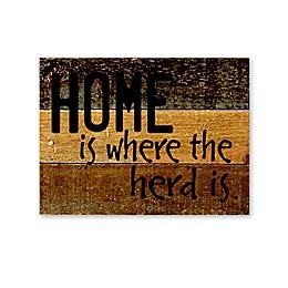 Sweet Bird & Co. Home Is Where Reclaimed Wood Wall Art