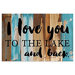 Sweet Bird & Co. To the Lake and Back Reclaimed Wood Wall Art