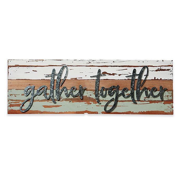 Alternate image 1 for Gather Together Reclaimed Wood Wall Art