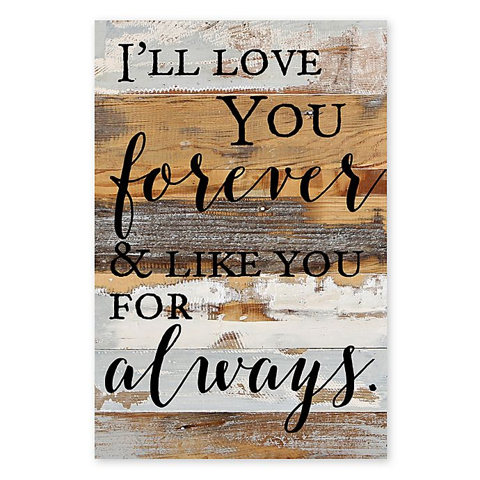 Alternate image 1 for Sweet Bird & Co. Love You Forever 18-Inch x 12-Inch Reclaimed Wood Wall Art