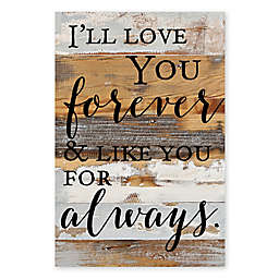 Sweet Bird & Co. Love You Forever 18-Inch x 12-Inch Reclaimed Wood Wall Art