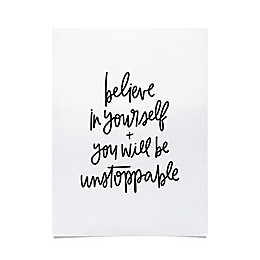 Be Unstoppable 18-Inch x 24-Inch Poster in Black