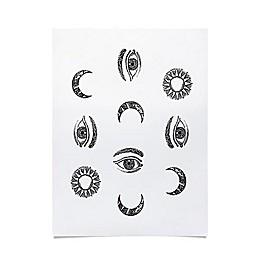 Deny Designs Emanuela Carratoni Moon and Sun Fabric Poster