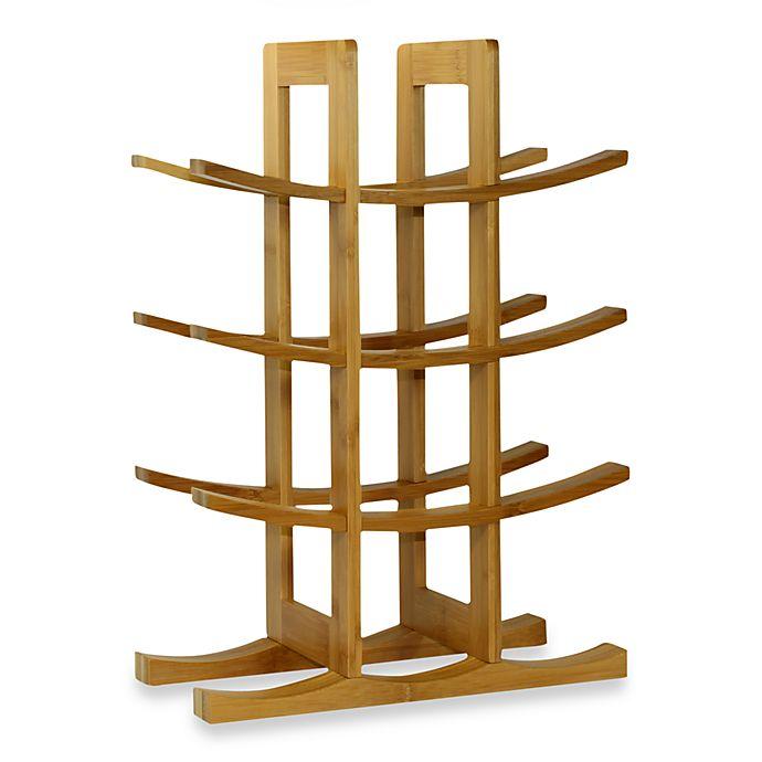 Alternate image 1 for Oceanstar 12-Bottle Natural Bamboo Wine Rack