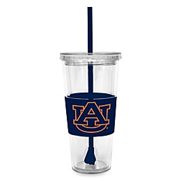 Double Wall 22-Ounce Tumbler with Lid & Straw - Auburn University