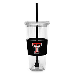 Texas Tech University Double Wall 22-Ounce Tumbler with Lid & Straw