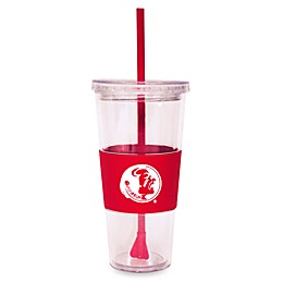 Double Wall 22-Ounce Tumbler with Lid & Straw - Florida State University