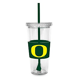 University of Oregon Double Wall 22-Ounce Tumbler with Lid & Straw