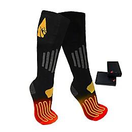 ActionHeat™ Unisex Small/Medium AA Battery Heated Socks in Black/Yellow