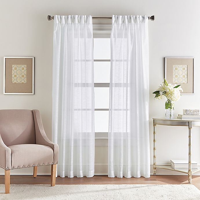 Alternate image 1 for Spellbound 84-Inch Pinch-Pleat Window Curtain Panel in White