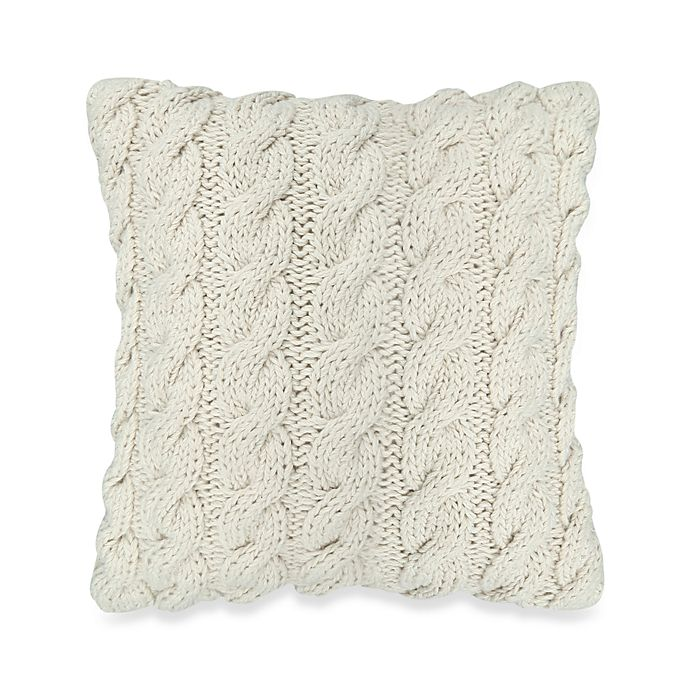 Alternate image 1 for The Vintage House by Park B. Smith® 12-Inch Sqare Classic Cable Decorative Throw Pillow