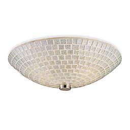 ELK Lighting Fusion 2-Light Semi Flush Mounted Ceiling Lamp Satin Nickel/Silver