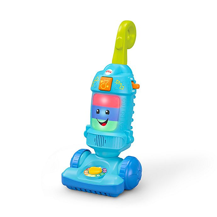 Alternate image 1 for Fisher-Price® Walker Laugh & Learn Light Up Vacuum in Blue