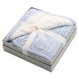Elegant Baby® Faux Fur Cable Knit Blanket