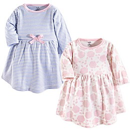 Touched by Nature 2-Pack Floral Organic Cotton Dresses in Pink