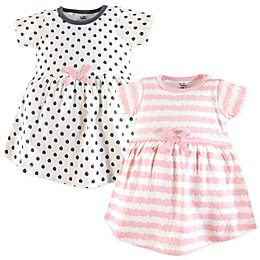Touched by Nature 2-Pack Scribble Organic Cotton Dresses in Pink