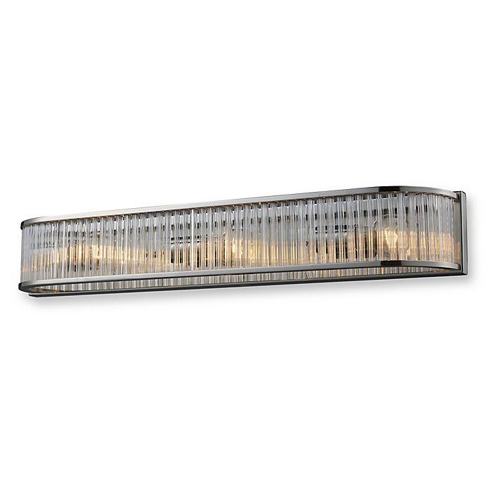 Alternate image 1 for ELK Lighting Braxton 3-Light Vanity in Polished Nickel