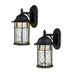 ELK Lighting Lapuente 1-Light Outdoor LED Sconce in Matte Black