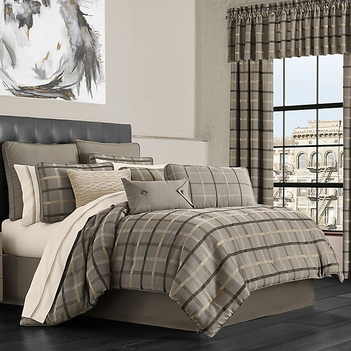 Alternate image 1 for J.Queen New York™ Sutton California King Comforter Set in Graphite