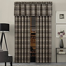 J.Queen New York™ Sutton 84-Inch Rod Pocket Window Curtain Panel Pair in Graphite