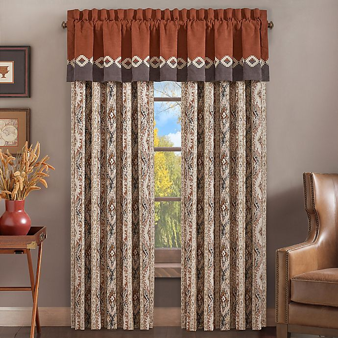 Alternate image 1 for J. Queen New York™ Brave 84-Inch Rod Pocket Window Curtain Panel Pair in Rust
