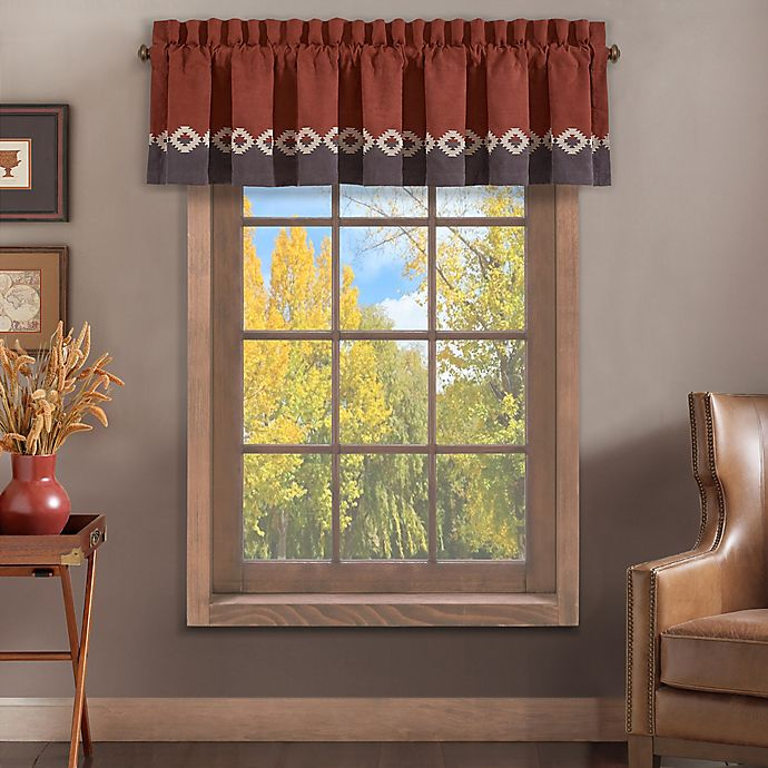 Alternate image 1 for J. Queen New York™ Brave Front Window Valance in Rust
