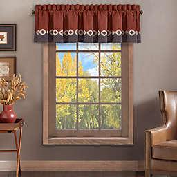 J. Queen New York™ Brave Front Window Valance in Rust