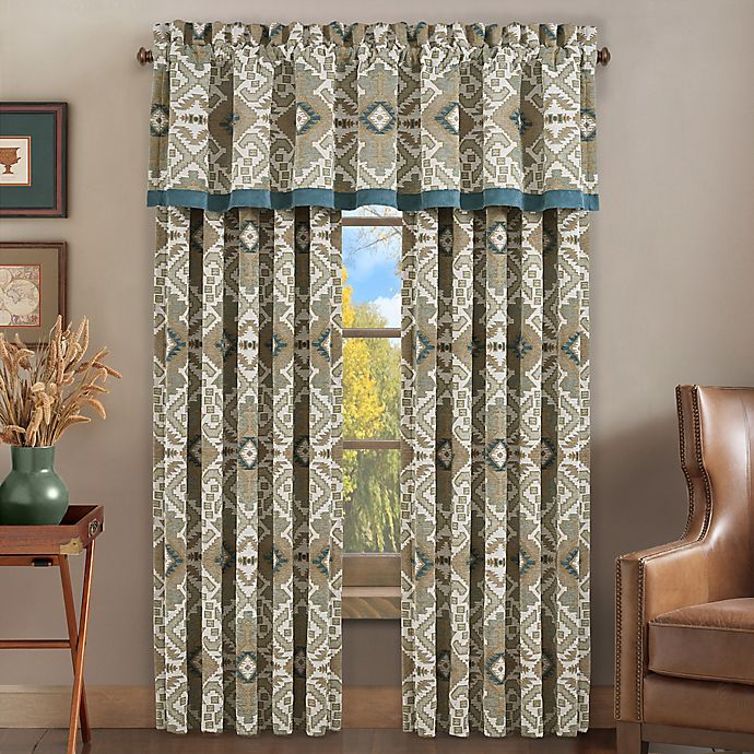 Alternate image 1 for J. Queen New York™ Phoenix 84-Inch Rod Pocket Window Curtain Panel Pair in Spa