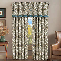 J. Queen New York™ Phoenix 2-Pack 84-Inch Rod Pocket Window Curtain Panels in Spa