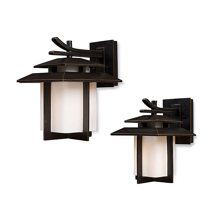 Alternate image 1 for ELK Lighting Kanso 1-Light Outdoor Sconces in Hazelnut Bronze