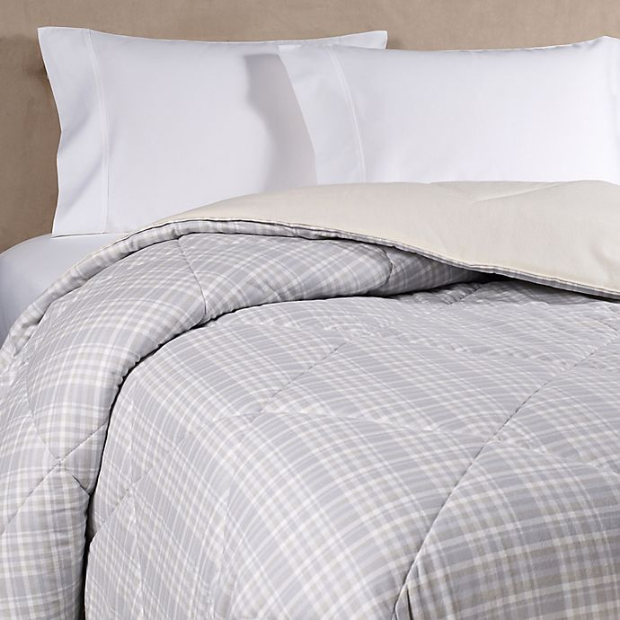 Alternate image 1 for The Seasons Collection® HomeGrown™ Flannel Plaid Comforter in Neutral