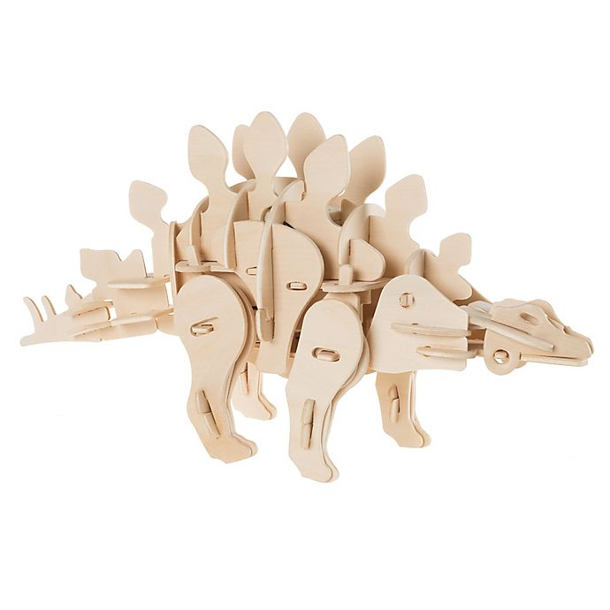 Alternate image 1 for Hey! Play! 3D Wooden Stegosaurus Puzzle