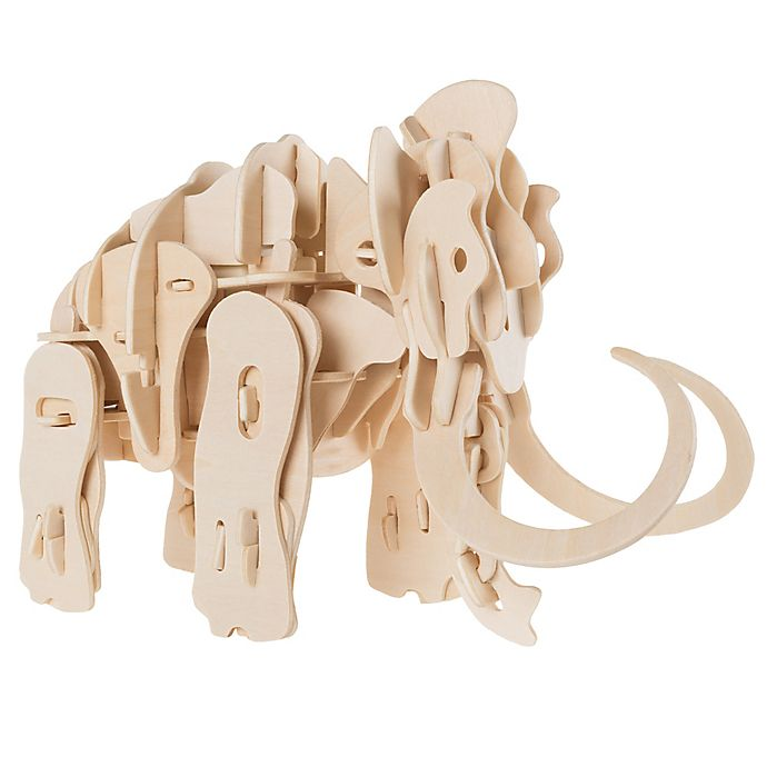 Alternate image 1 for Hey! Play! 3D Wooden Woolly Mammoth Puzzle