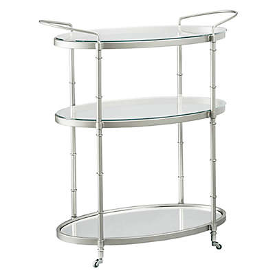 Madison Park Signature Lauren Bar Cart in Silver