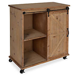Kate and Laurel Cates Kitchen Cart/Storage Cabinet in Rustic Brown