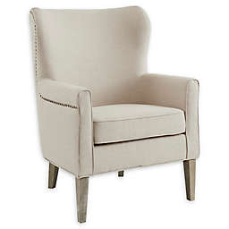 Madison Park Polyester Upholstered Colette Chair in Natural