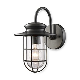 ELK Lighting Portside Matte Black 1-Light Small Outdoor Sconce
