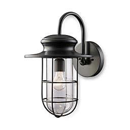 ELK Lighting Portside Matte Black 1-Light Large Outdoor Sconce