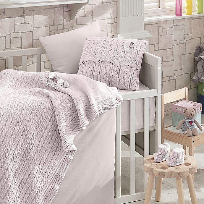 Alternate image 1 for Nipperland® Rose Garden 6-Piece Crib Bedding Set in Pink