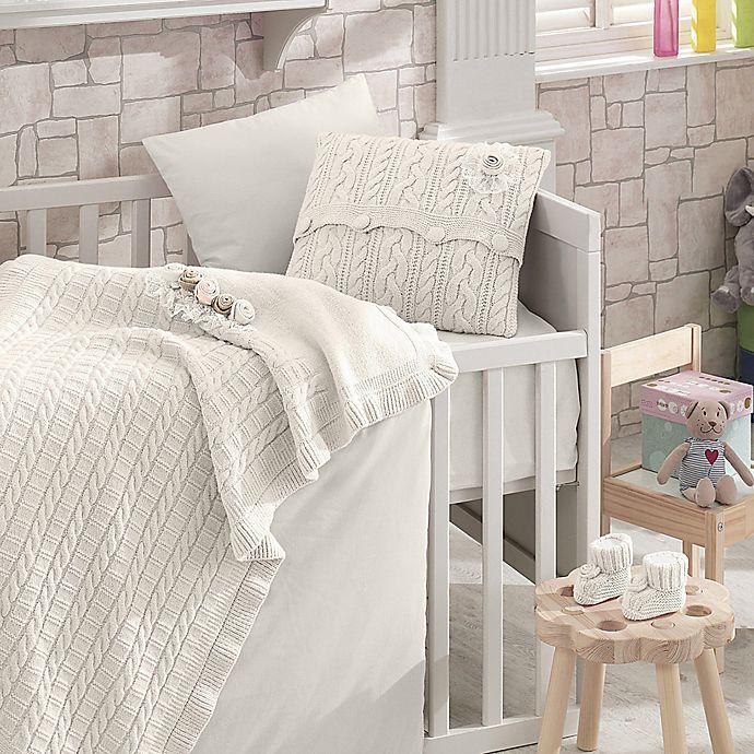 Alternate image 1 for Nipperland® Rose Garden 6-Piece Crib Bedding Set in Cream
