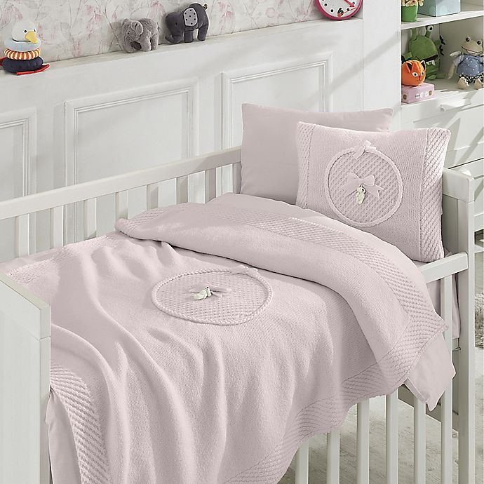 Alternate image 1 for Nipperland® 6-Piece Teddy Bear Crib Bedding Set in Pink