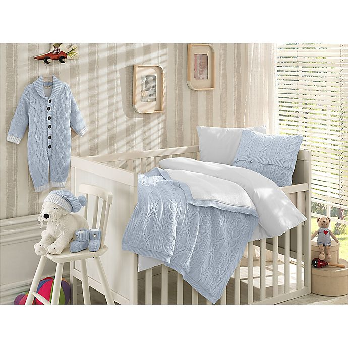 Alternate image 1 for Nipperland® 6-Piece Boutique Crib Bedding Set in Blue
